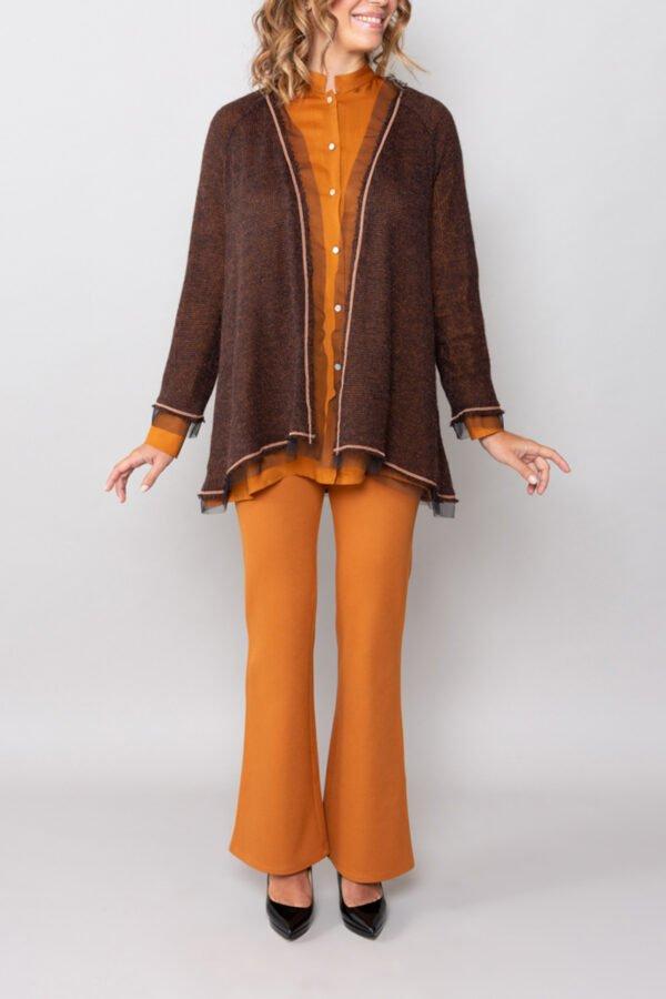 maglia palermo marrone roderi maniche lunghe abbigliamento donna
